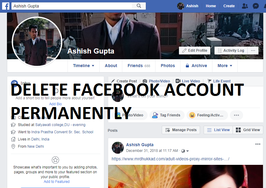 TIPS TO DELETE FACEBOOK ACCOUNT PERMANENTLY 2019 UPDATE