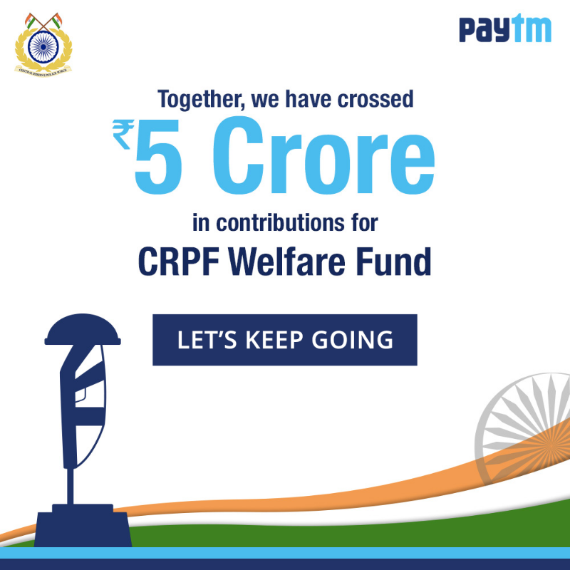 Paytm Users Contribute More Then 5 Crore In Last 24 Hours