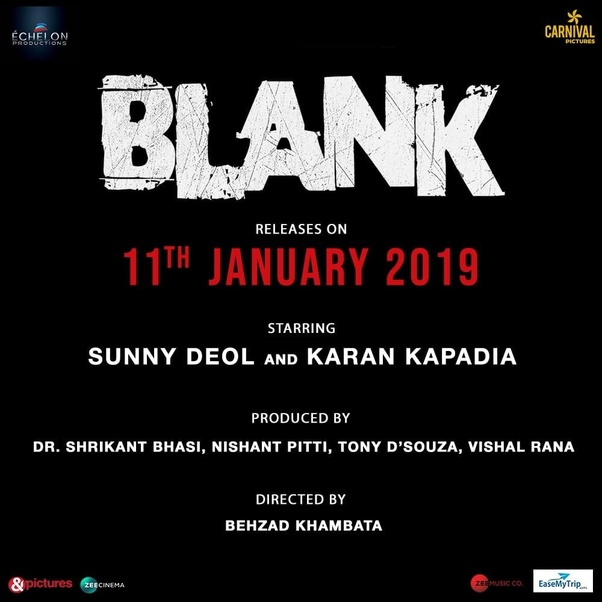 Blank Movie Cast Trailer Release Date Review Poster Earning Story