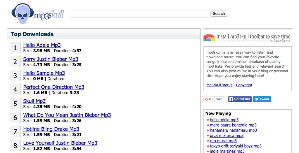 15+ MP3SKULL PROXY AND MIRROR SITES TO UNBLOCK MP3SHULL.COM