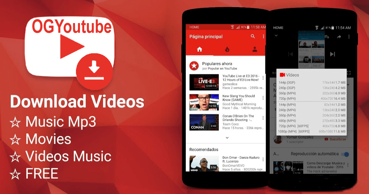 FREE DOWNLOAD LATEST OG YOUTUBE APK APP FOR YOUR ANDROID