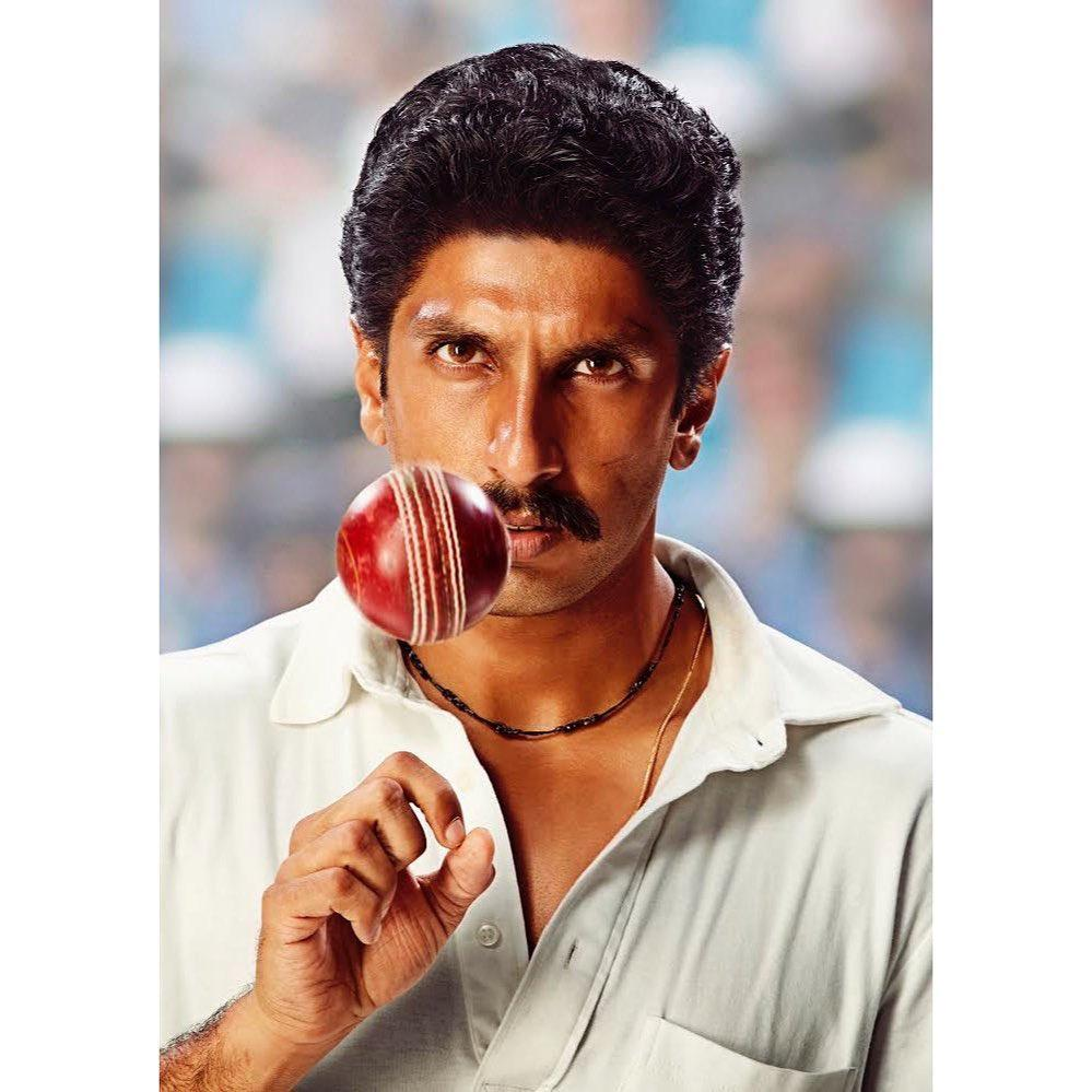 LOOK OUT OF RANVEER SINGH AS KAPIL DEV IN 83 (FILM)