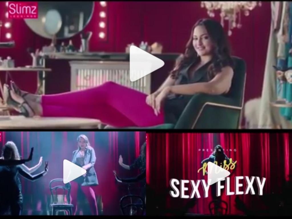 SONAKSHI SINHA PROMOTING SEXY FLEXY LEGGINGS-WATCH NOW